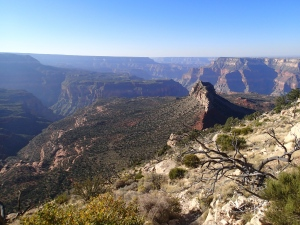 Monument Point, Grand Canyon, near the Bill Hall Trail trailhead
