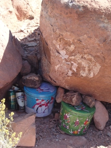 Food cache in the Grand Canyon